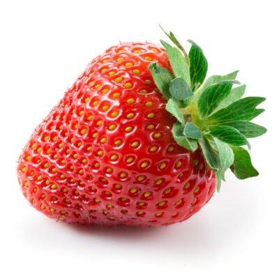 Sticker Strawberry isolated on white background