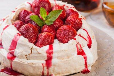 Sticker Strawberry pavlova cake