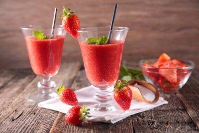 Sticker strawberry smoothie