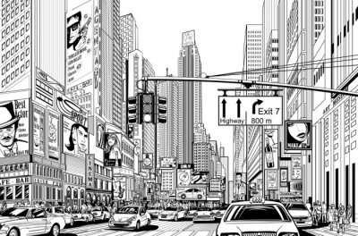 Sticker street in New York city