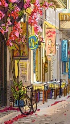 Sticker Street in Roma - illustration