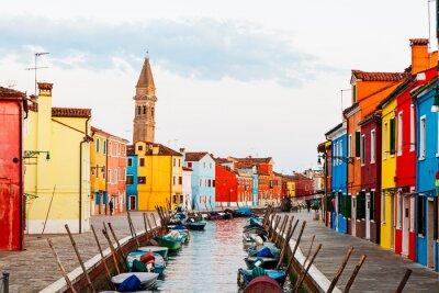 Sticker Street Scene in Burano Italy