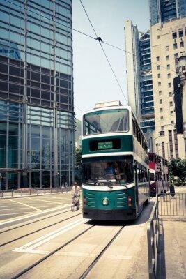 Sticker streetcar in hong kong