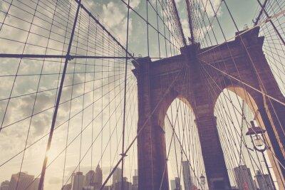 Sticker Structural detail of the Brooklyn Bridge