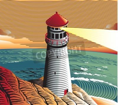 Sticker Summer Lighthouse