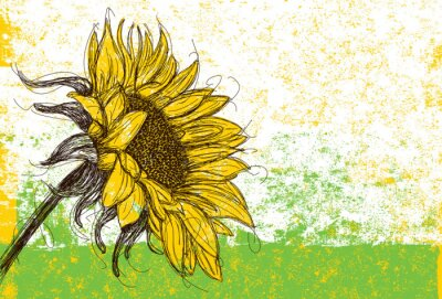 Sticker Sunflower