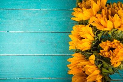 Sticker sunflower on table