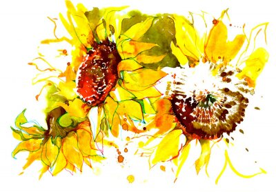 Sticker sunflowers
