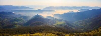 Sticker Sunrise in the Carpathian mountains