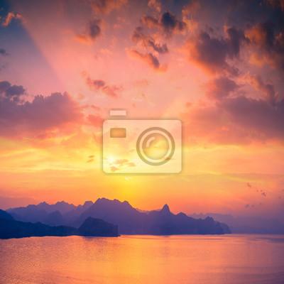 Sunset above Sudak bay