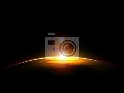 sunset on planette