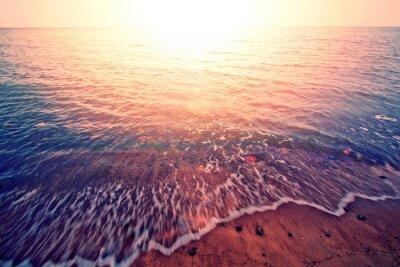 Sticker Sunset over the sea.