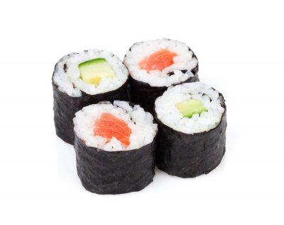 Sticker Sushi maki set with salmon and cucumber