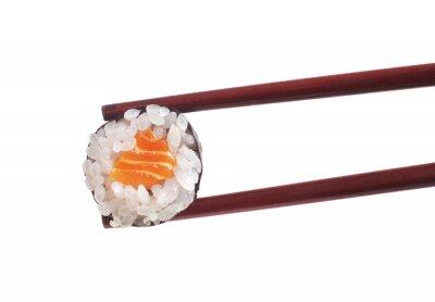 Sticker Sushi on white background