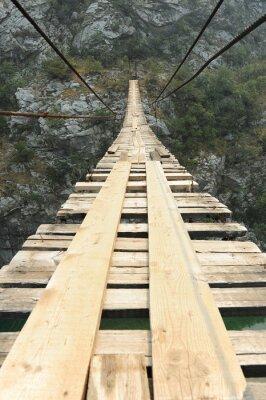 Sticker Suspension bridge in the canyon