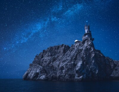 Swallow's Nest at night