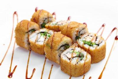 Sticker tasty sushi