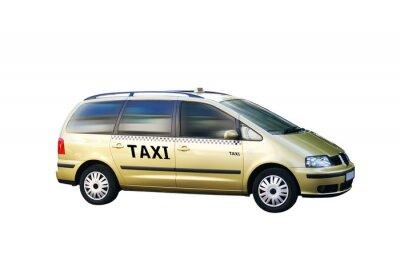 Sticker Taxi Bus freigestellt