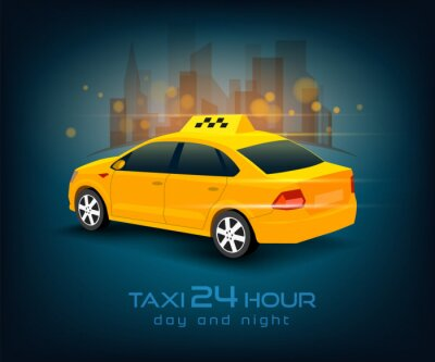 Sticker taxi car