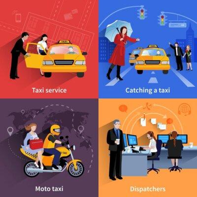 Sticker Taxi Service 2x2 Banners Set