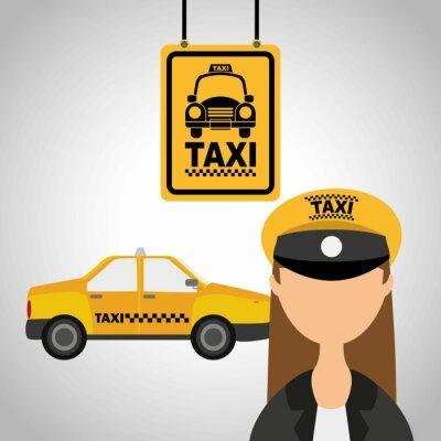 Sticker taxi service