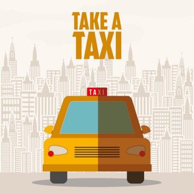 Sticker taxi service design