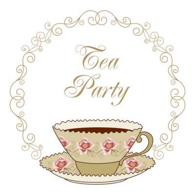Sticker Tea party card