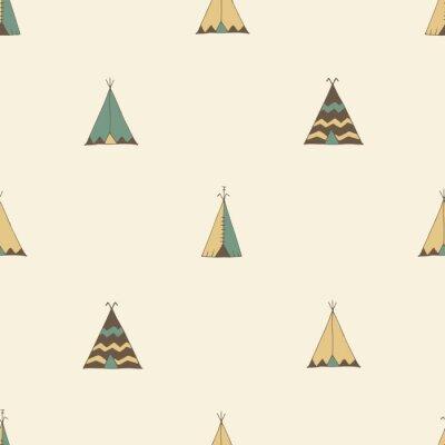 Sticker Teepee native american summer tent illustration in vector.