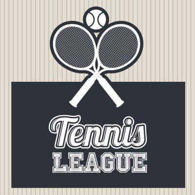 Sticker tennis league design