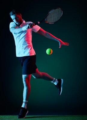 Sticker tennis player man isolated