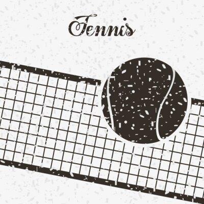 Sticker tennis sport design