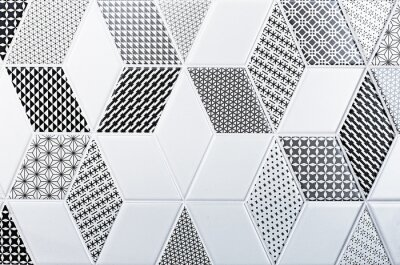 Sticker texture of the classic tile, abstract pattern