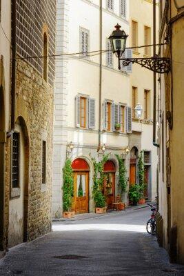 Sticker The Via Lambertesca street at historic center of Florence, Italy