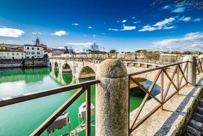 Sticker Tiberius Bridge in Rimini