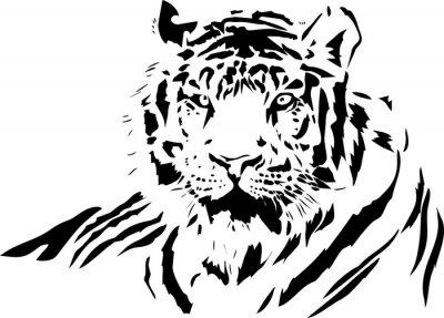 Sticker tiger face