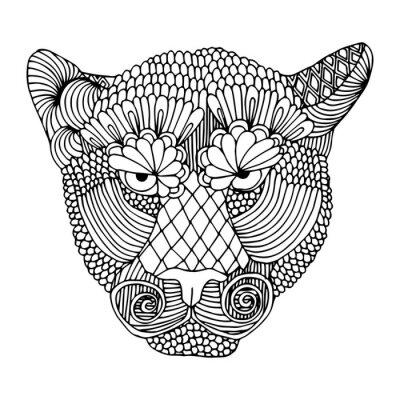 Sticker Tiger head