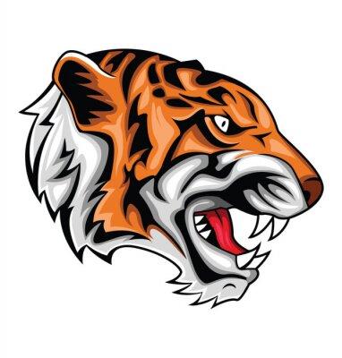 Sticker tiger roar