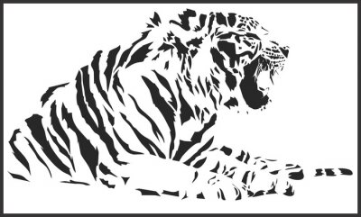 Sticker tiger_sitting
