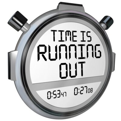 Sticker Time is Running Out Stopwatch Timer Clock