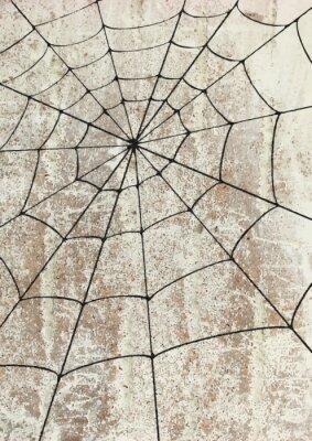 Sticker Toile surd'araignée un mur. Street art