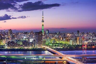 Sticker Tokyo, Japan Skyline