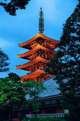 Sticker Tokyo temple