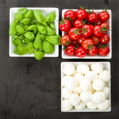 Sticker Tomate Mozzarella Basilikum