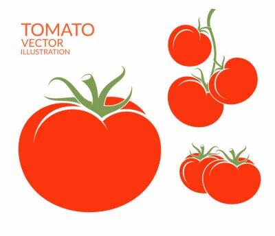 Sticker Tomato. Isolated vegetables on white background