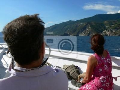 touriste sur bateau