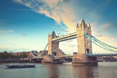 Sticker Tower bridge at sunset, London