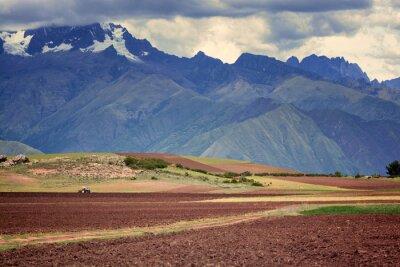 Sticker Tractor in the field, Cuzco, Peru