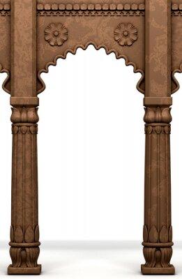Sticker Traditional Indian Column Arc