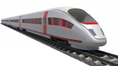 Sticker Train on white background
