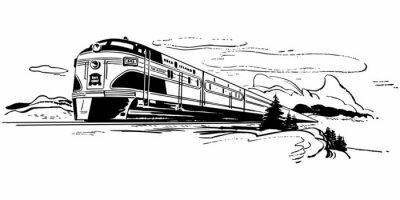 Sticker Train Travel
